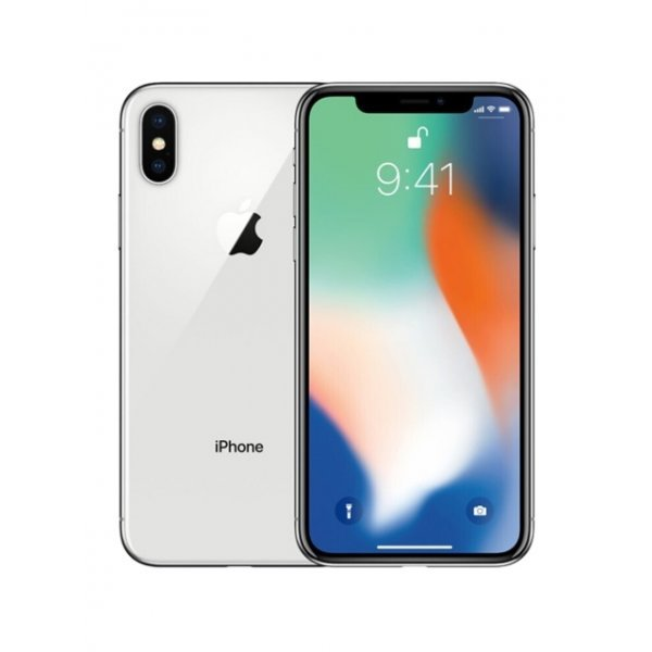 Apple iPhone X 64GB Silver Unlocked (Refurbished - Good)